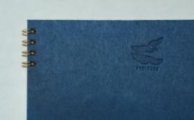 【10%OFF】④滝製紙所・マルベリーカラー群青トリノコノート1冊(B6サイズ)