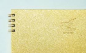 【10%OFF】⑤滝製紙所・金礼紙トリノコノート1冊(B6サイズ)
