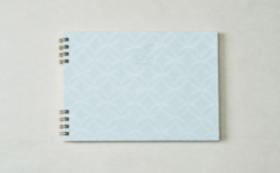 【10%OFF】⑦山伝製紙・ひっかけ紙(七宝 水)トリノコノート1冊(B6サイズ)