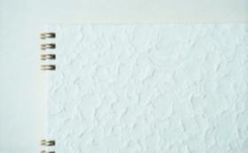 【10%OFF】⑨長田製紙所・落水紙(白、特厚)トリノコノート1冊(B6サイズ)