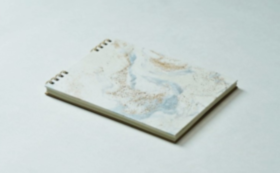 【10%OFF】⑪長田製紙所・白地金銀彩雲トリノコノート1冊(B6サイズ)