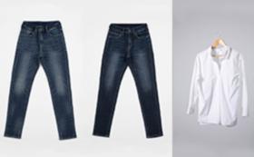 ウェーブスタイル:スリムテーパードとスキッパーシャツのセット