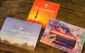 市川のユニークなお店や名所が載っている地図「ICHIKAWAMAP&JUNCTIONMAP&NOBORDERMAP」