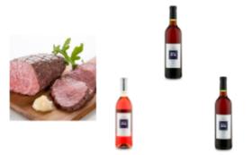 山葡萄ワインセット(3本セット)&ローストビーフ