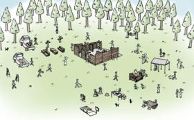【人力応援コース】仮設住宅にもなるバンガローを建ててみよう!建設ワークショップ参加券&バンガロー棟ご芳名