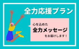 全力応援プラン(10000円)