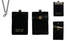 国産羊革製メッシュストラップ付カードケース