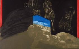 池田満寿夫 オリジナル版画「夜の旅」