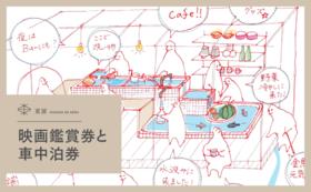 映画鑑賞券+車中泊券