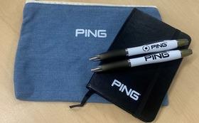 非売品 PINGボールペン2本 A6メモ長 デニムポーチ