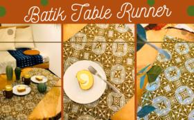 クリスマスやお正月におすすめ!バティックのテーブルランナーby ''Alir Tirta Batik''