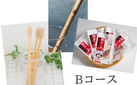 Bコース(竹ストロー1本・竹歯ブラシ1本・坂田水産:鯛めし)