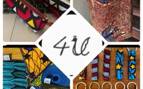 アフリカ布を使った商品(4U)&定期的な活動報告1