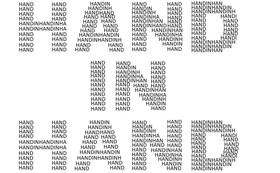 皆様のお名前で創る「HAND IN HAND」ロゴ