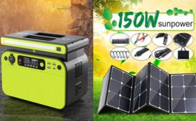 500Wポータブル電源+150W ソーラーパネル  超早割40%OFF
