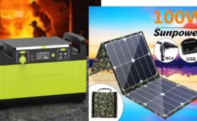 1500Wポータブル電源+100W ソーラーパネル  超早割40%OFF