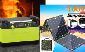 1500Wポータブル電源+100W ソーラーパネル  早割37%OFF