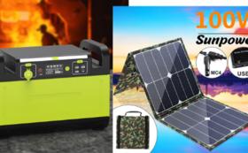 1500Wポータブル電源+100W ソーラーパネル  早割35%OFF