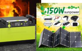 1500Wポータブル電源+150W ソーラーパネル  特割32%OFF