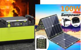 1500Wポータブル電源+100W ソーラーパネル  早割32%OFF