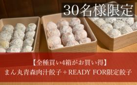 【全種類買い4箱がお買い得!】まん丸青森肉汁餃子箱+REDAYFOR限定餃子 各味2箱ずつ