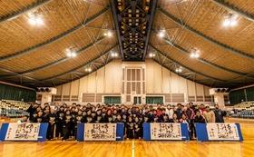 【新しい歴史を創るコース】新体育館でのThanks.主催のバドミントン大会プログラムに応援メッセージ掲載