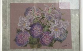 紫陽花と百合(No.057)