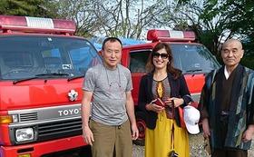 車体へ名前のペインティングと小川村での報告会へご招待します。