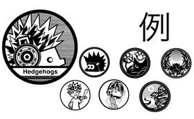 2(3)LINEグループメンバー限定のモノクロアイコンをデザイン致します!!