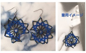 YDYのアクセサリー・ブルーの風の耳飾りピアス(又はイアリング)