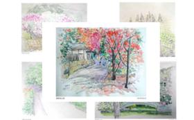 【父の絵ハガキ 5枚セット(風景)+コミュニティアプリ「IKIZAMA」の1ヶ月限定ベータ版アプリ体験】