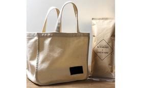 KUMAROMA様のコーヒー豆とハンドメイドのトートバッグ