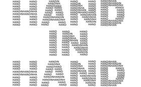 皆様のお名前で創る「HAND IN HAND」ロゴ ~10000円 応援プラン~