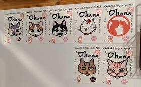 5000円で応援。ポストカード、御猫印、猫カフェチケットコース