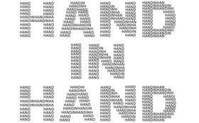 皆様のお名前で創る「HAND IN HAND」ロゴ ~30000円 大大応援プラン~