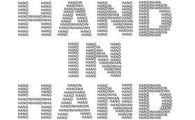 皆様のお名前で創る「HAND IN HAND」ロゴ ~50000円 大大大応援プラン~