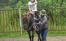 ドサンコの乗馬体験(引馬)