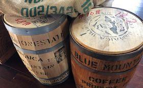 『コーヒー輸送用の本物の木樽』&『コーヒー豆の麻袋』※ご来店いただける方のみ