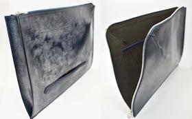 英国ブライドルレザークラッチバッグ 長沢ベルト工業オリジナル