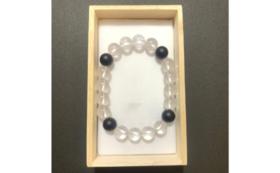 D|石王子石と水晶のブレスレッド・御芳名板