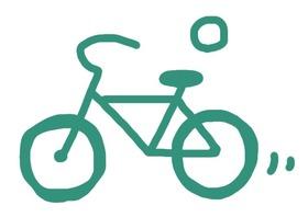 近くのお店は自転車で!