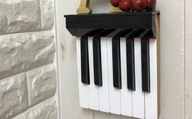 【廃棄ピアノ活用】ハンドメイドの鍵盤壁掛け