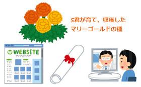Sくんが育てた花の種 + オンライン講習会 + HP等お名前掲載 + 感謝状送付コース