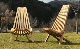 阿波の木材で作った、ワイルドサウナチェア!ペア用