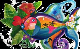 MARRY CALL  イラスト絵画データ1作品 送付「お魚Island」