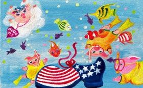 MARRY CALL 名刺  [Sea Party] 100枚 作成します。