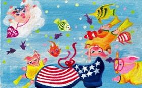 MARRY CALL  イラスト絵画データ1作品 送付「Sea Party」