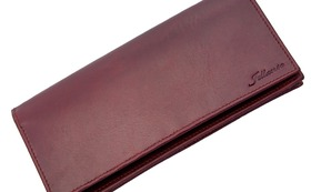 Long Wallet Antique Red Outlet