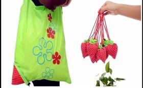 イチゴのエコバッグまたはイチゴ雑貨、感謝のお手紙、バンジャの写真