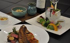 ペアご宿泊券(1泊2食)鳥取県産ブランド肉の3種のグリルコース